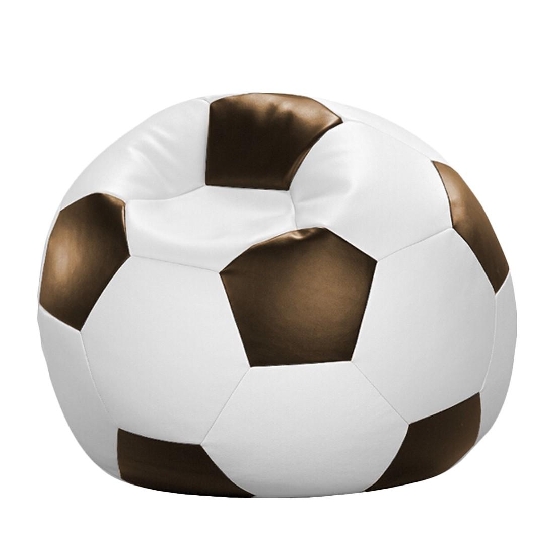 Fussball-Sitzsack – Weiß/Braun – 90 x 90 cm, KC-Handel kaufen