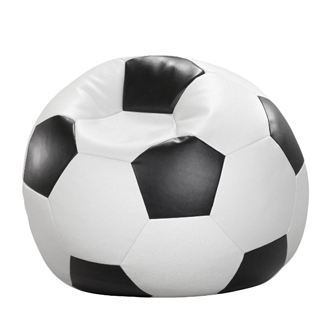 Fussball-Sitzsack – Weiß/Schwarz – 80 x 80 cm, KC-Handel online kaufen