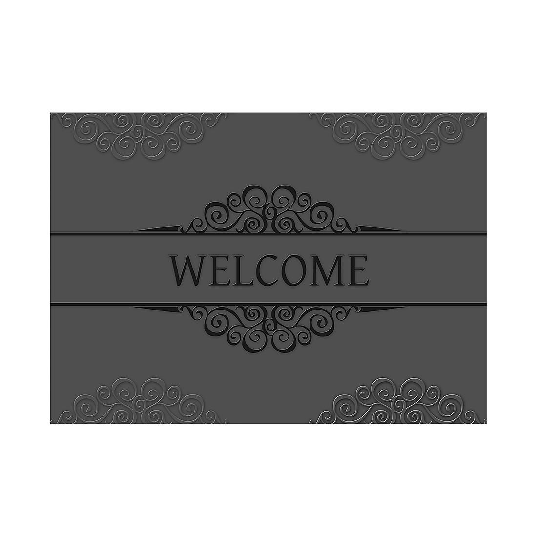 Fu matte barock welcome grau schwarz pro art g nstig - Babyzimmer barock ...