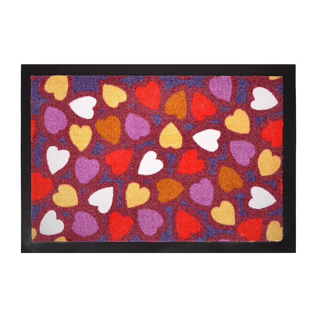 Fußmatte Printy Hearts – Mehrfarbig – 40 x 60 cm, Hanse Home Collection günstig online kaufen