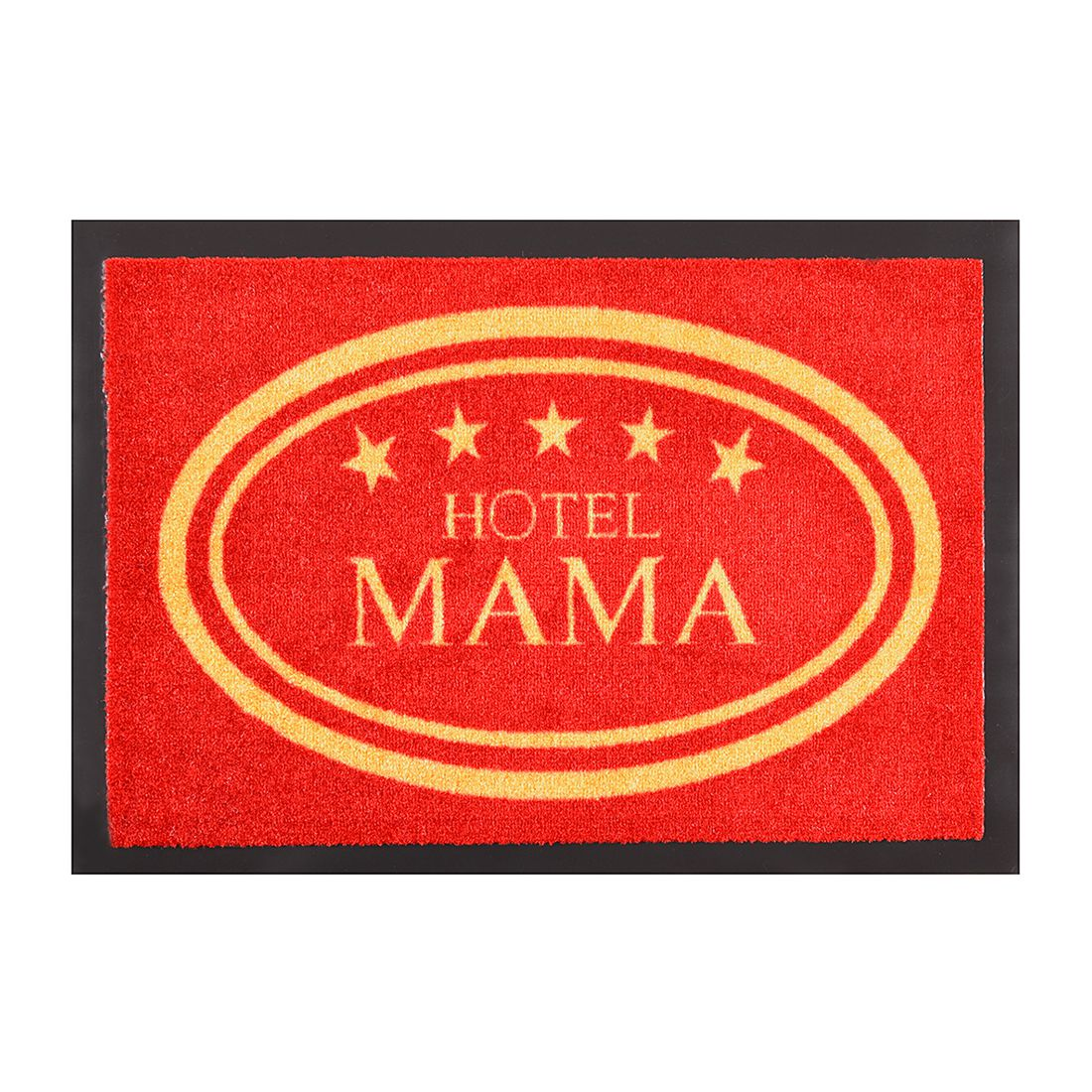 Fußmatte Printy Hotel Mama - Rot/Gelb - 40 x 60 cm, Hanse Home Collection