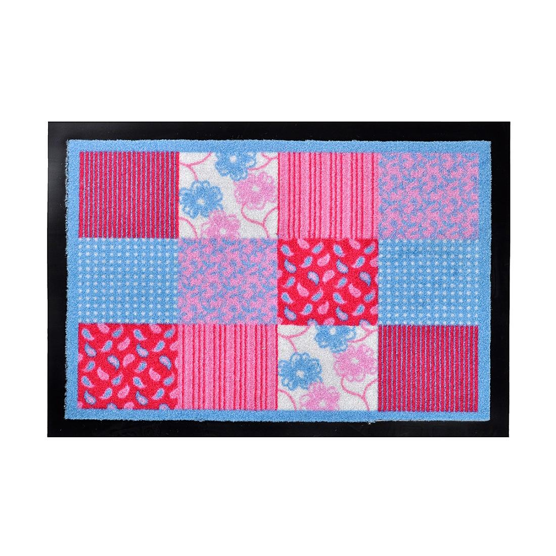 Fußmatte Printy Patchwork – Rot/Blau – 40 x 60 cm, Hanse Home Collection online kaufen