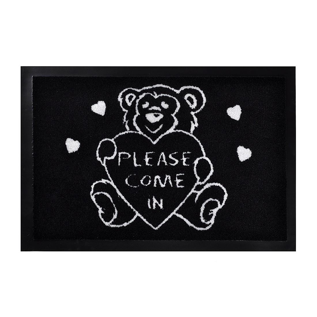 Fußmatte Printy Please come – Schwarz – 40 x 60 cm, Hanse Home Collection jetzt kaufen