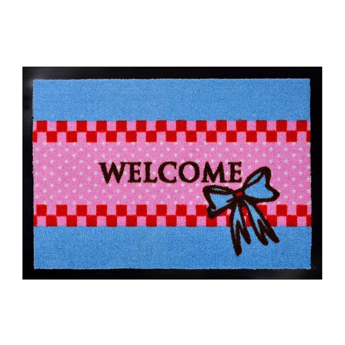 Fußmatte Printy sweet Welcome – Blau/Rot – 40 x 60 cm, Hanse Home Collection jetzt kaufen
