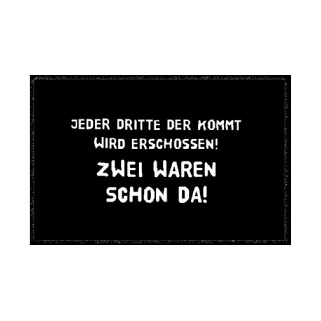 Fußmatte Printy Warnung II, Hanse Home Collection günstig online kaufen