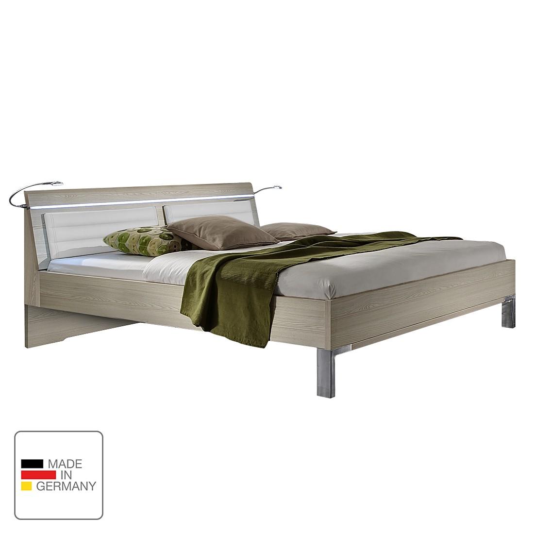 Futonbett Bolero – Esche Dekor/Weiß – 140 x 190cm – Mit Beleuchtung, Althoff günstig