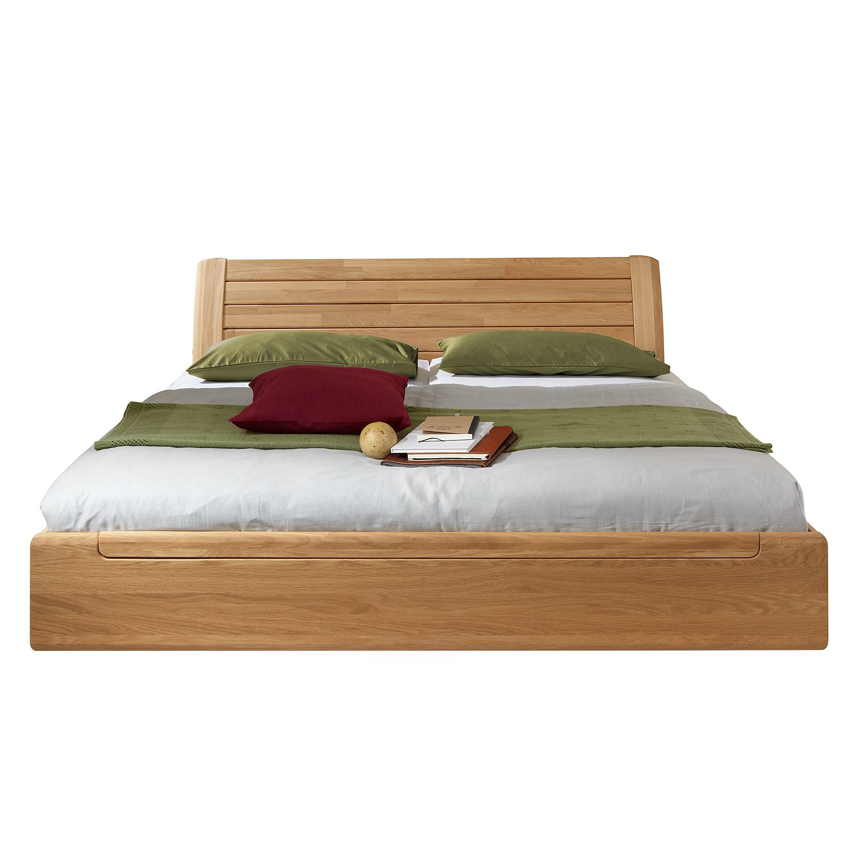 futonbett buffalo ii massivholz eiche 200 x 210cm. Black Bedroom Furniture Sets. Home Design Ideas