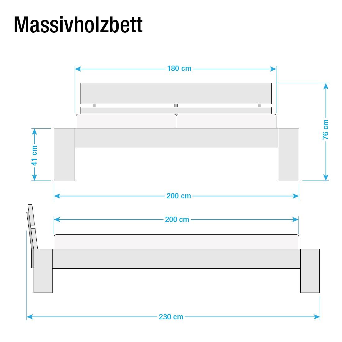 Futonbett Franzi – Massivholz – 180 x 200cm – Kernbuche, Ars Natura günstig online kaufen