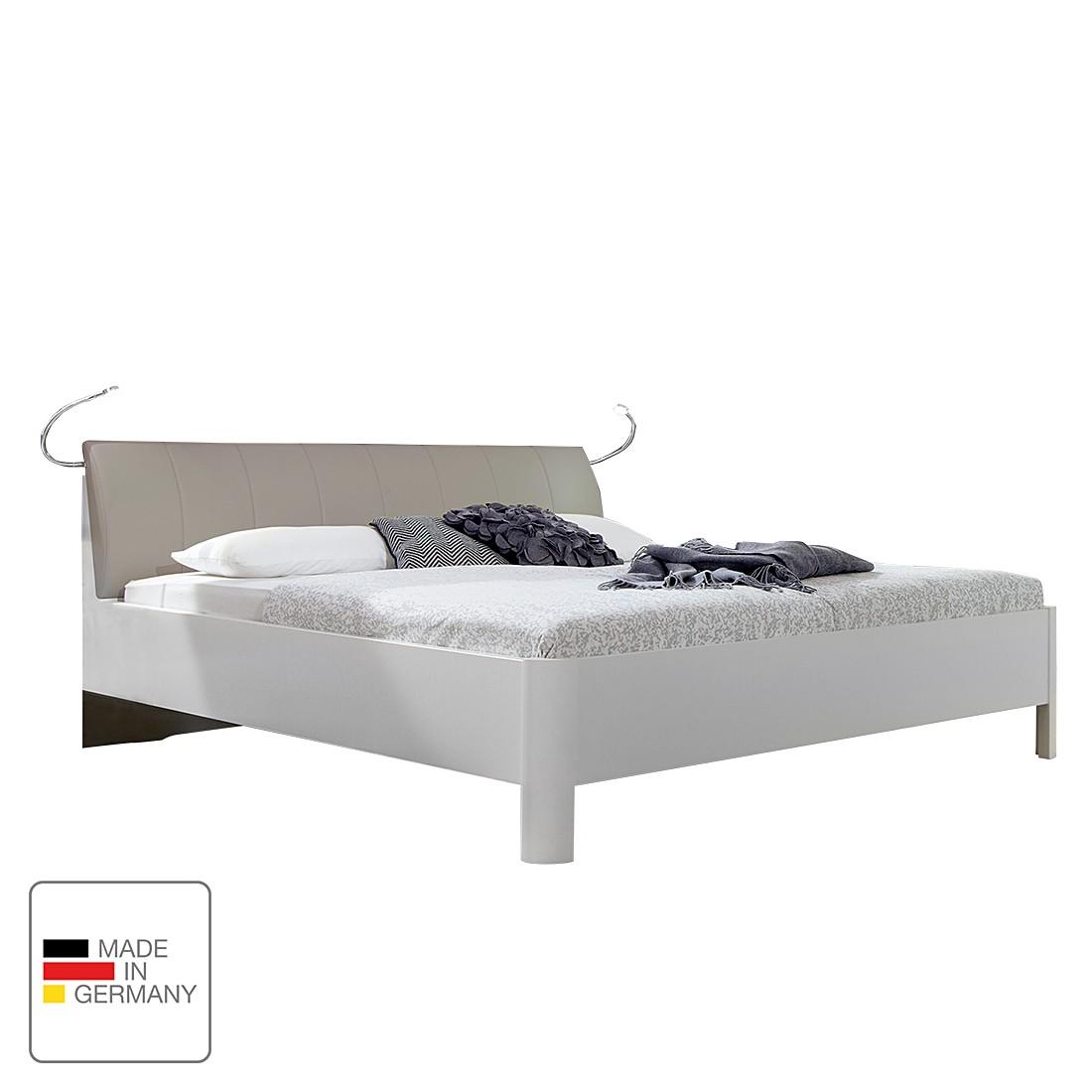 futonbett jive ii alpinwei kunstleder sahara 160 x 190cm mit beleuchtung standardh he. Black Bedroom Furniture Sets. Home Design Ideas