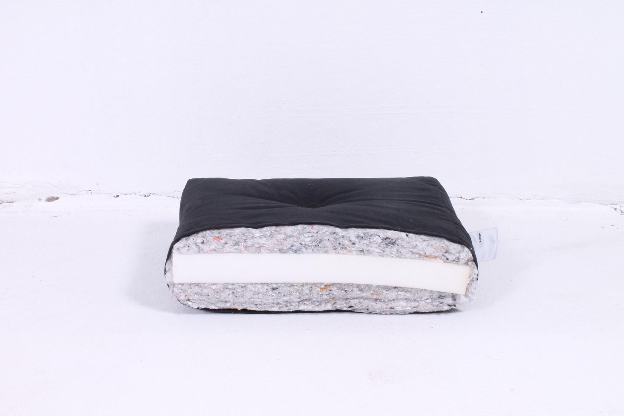 Futonmatratze Basic Futon – Schaum/Wolle – Schwarz – Liegefläche: 200 x 160 cm, Karup jetzt bestellen