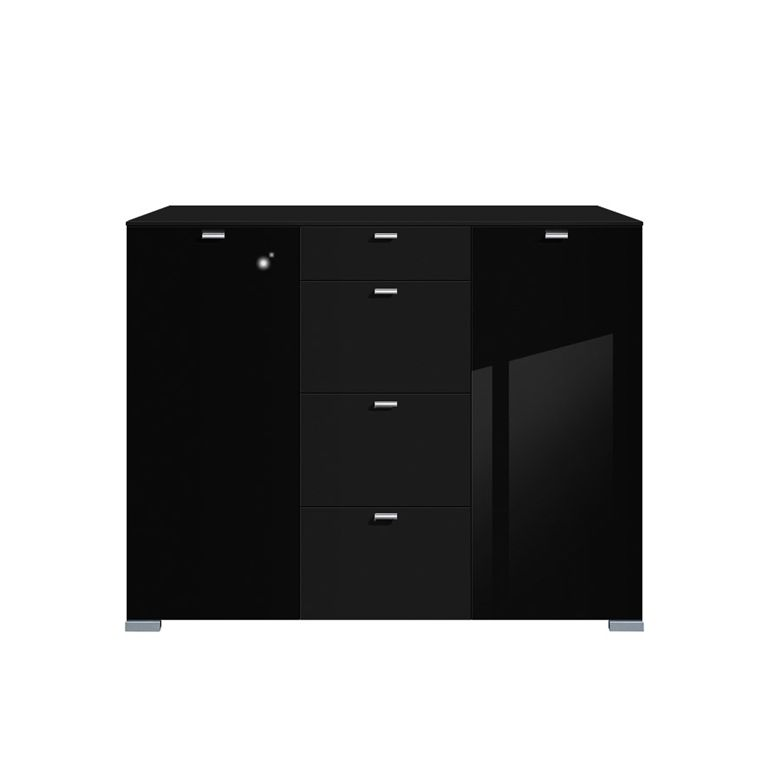 gallery hg highboard schwarz hochglanz 2 t rig. Black Bedroom Furniture Sets. Home Design Ideas