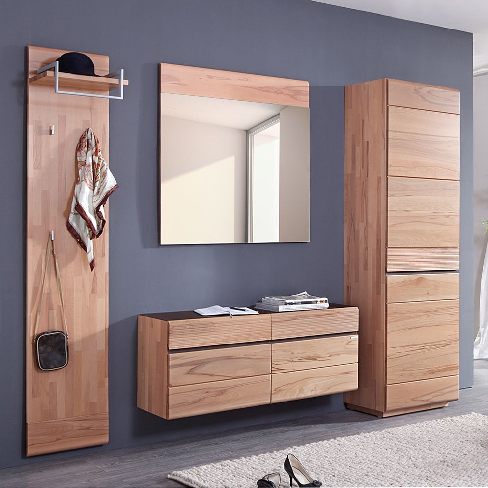 garderobe cosimo i 4 teilig kernbuche massiv. Black Bedroom Furniture Sets. Home Design Ideas
