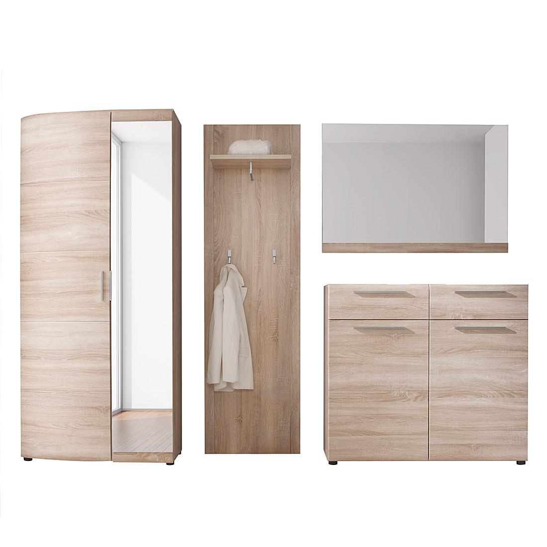 Garderobe savona sl 4 teilig eiche dekor schrank for Breite garderobe
