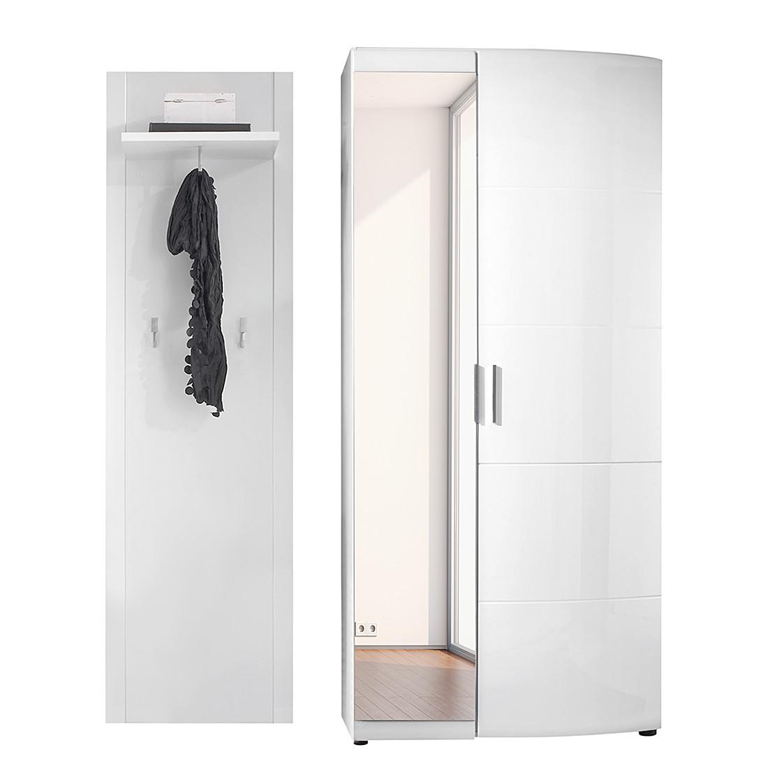 garderobe savona sr 2 teilig hochglanz wei schrank. Black Bedroom Furniture Sets. Home Design Ideas