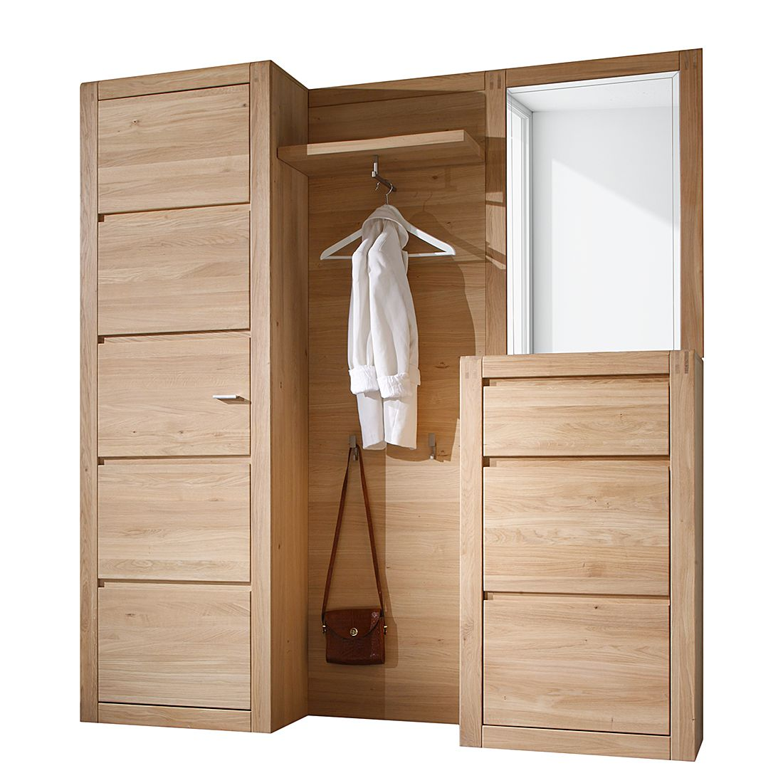 garderobe vigo 4 teilig eiche teilmassiv ge lt gewachst. Black Bedroom Furniture Sets. Home Design Ideas
