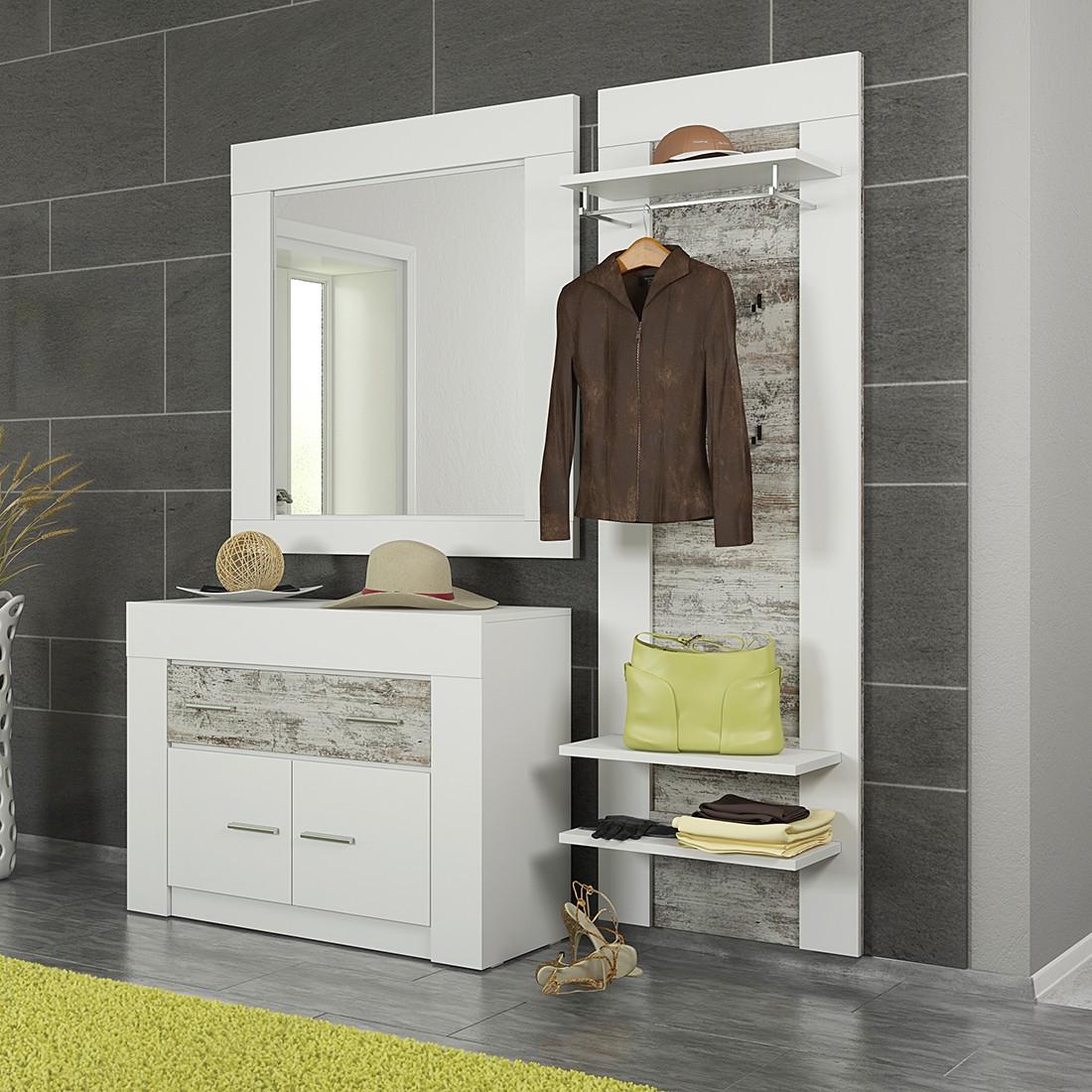 garderoben set cast ii wei white kiefer dekor modoform g nstig bestellen. Black Bedroom Furniture Sets. Home Design Ideas