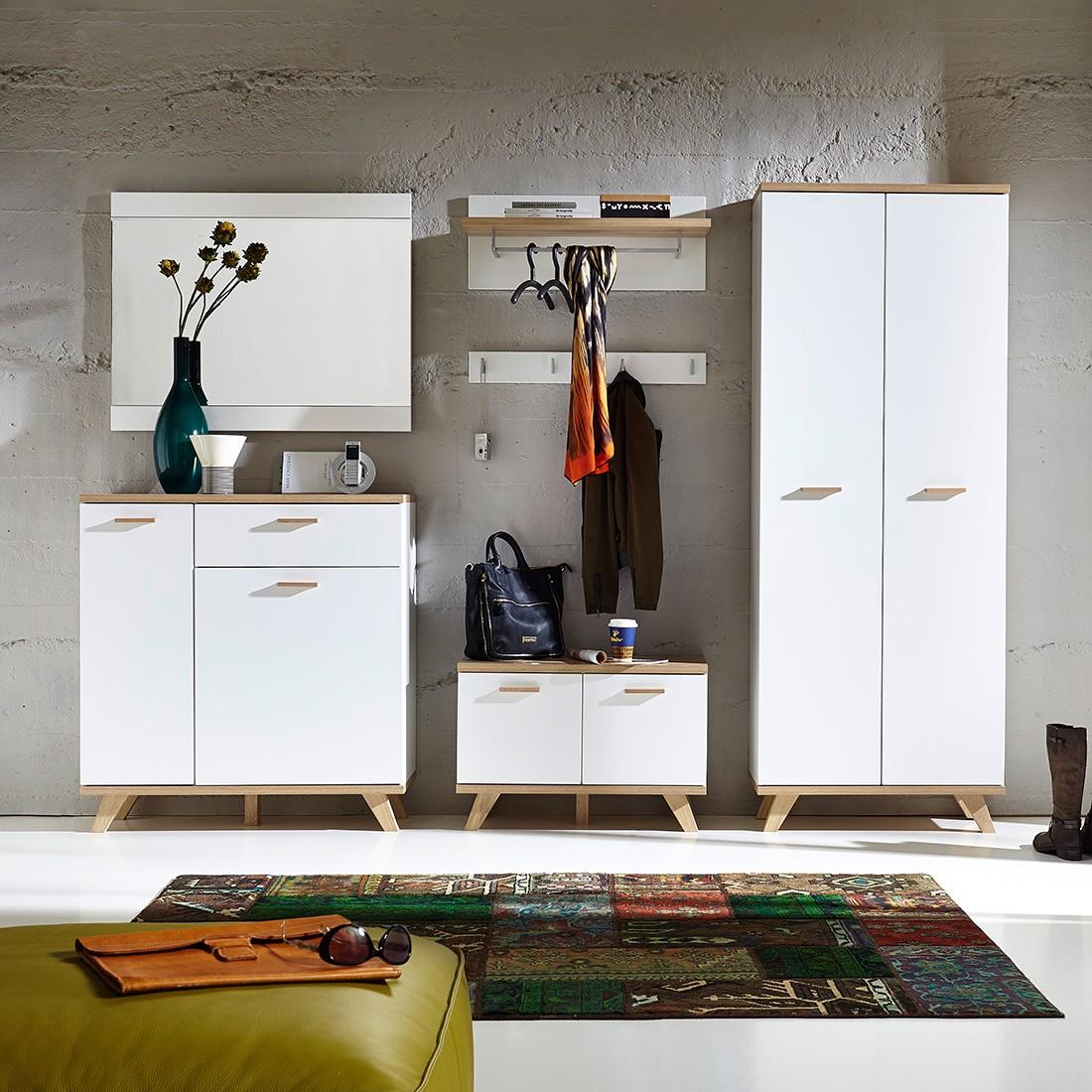 Garderoben-Set Neston (5-teilig) – Supermatt Weiß/Eiche Sanremo Dekor, Mørteens jetzt bestellen