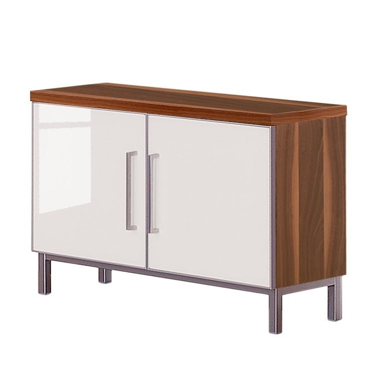 Garderobenbank Alves – Nussbaum/Glas Weiß, Voss online bestellen