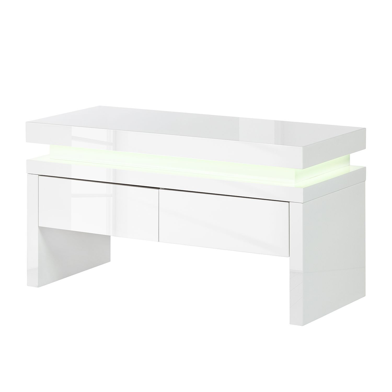 garderobenbank emblaze ii inkl beleuchtung hochglanz wei sitzbank ebay. Black Bedroom Furniture Sets. Home Design Ideas