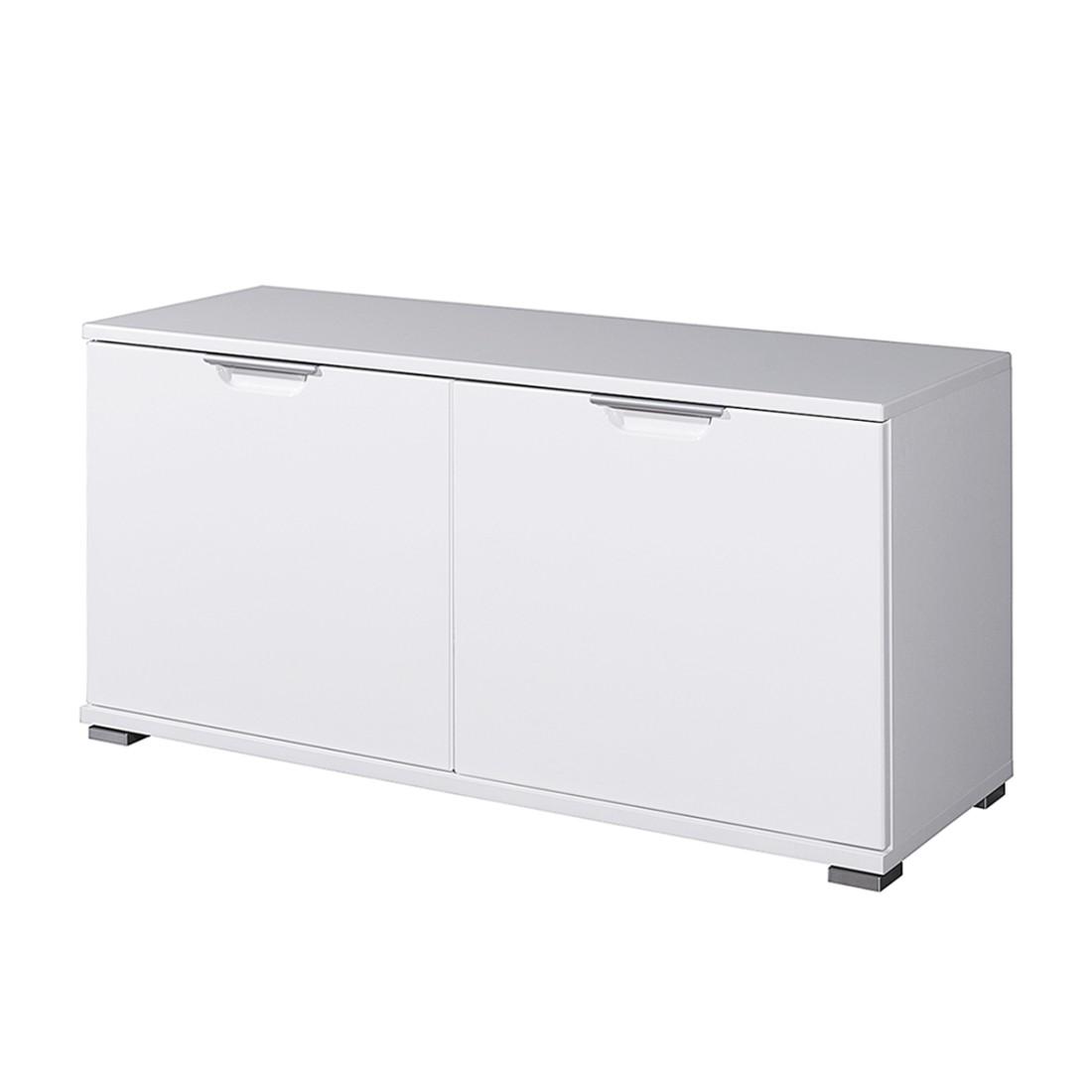 Garderobenbank Trenta - Weiß Hochglanz