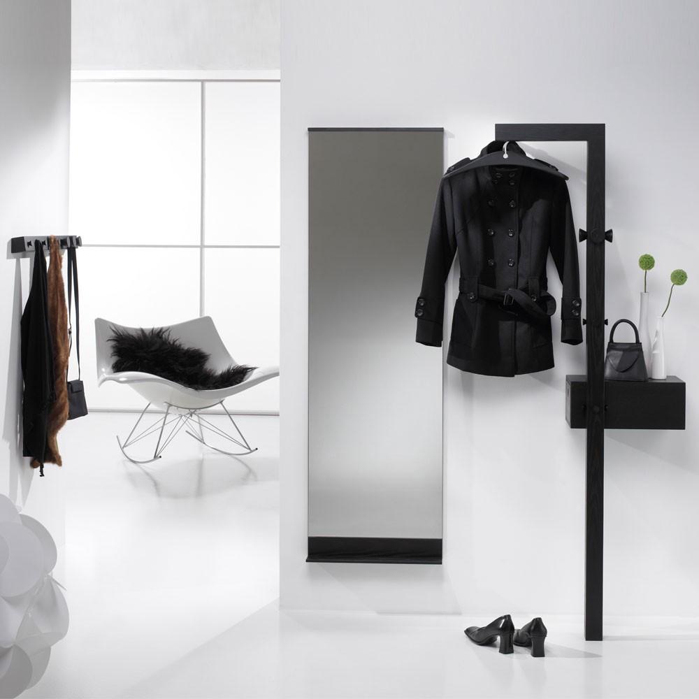 Garderobenmöbel Canny (3-teilig) – Esche Teilmassiv – Schwarz, JOEs HOMELAND online bestellen