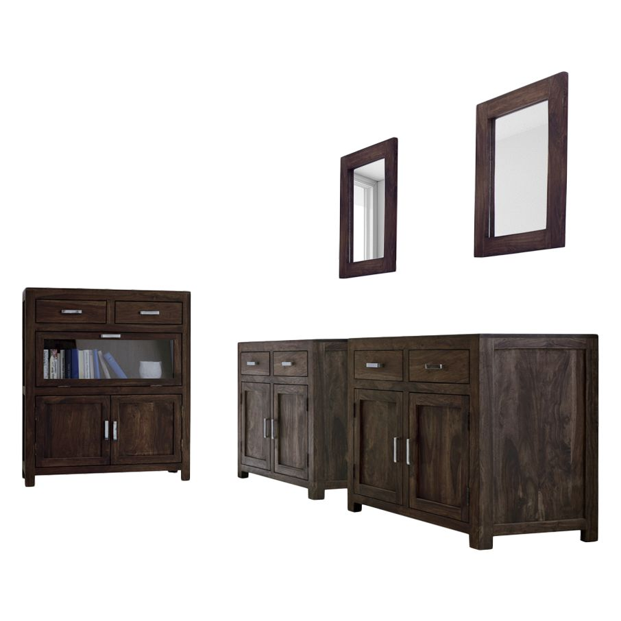 tischgruppe everton 5 teilig sheesham massiv natur m bel exclusive online kaufen. Black Bedroom Furniture Sets. Home Design Ideas