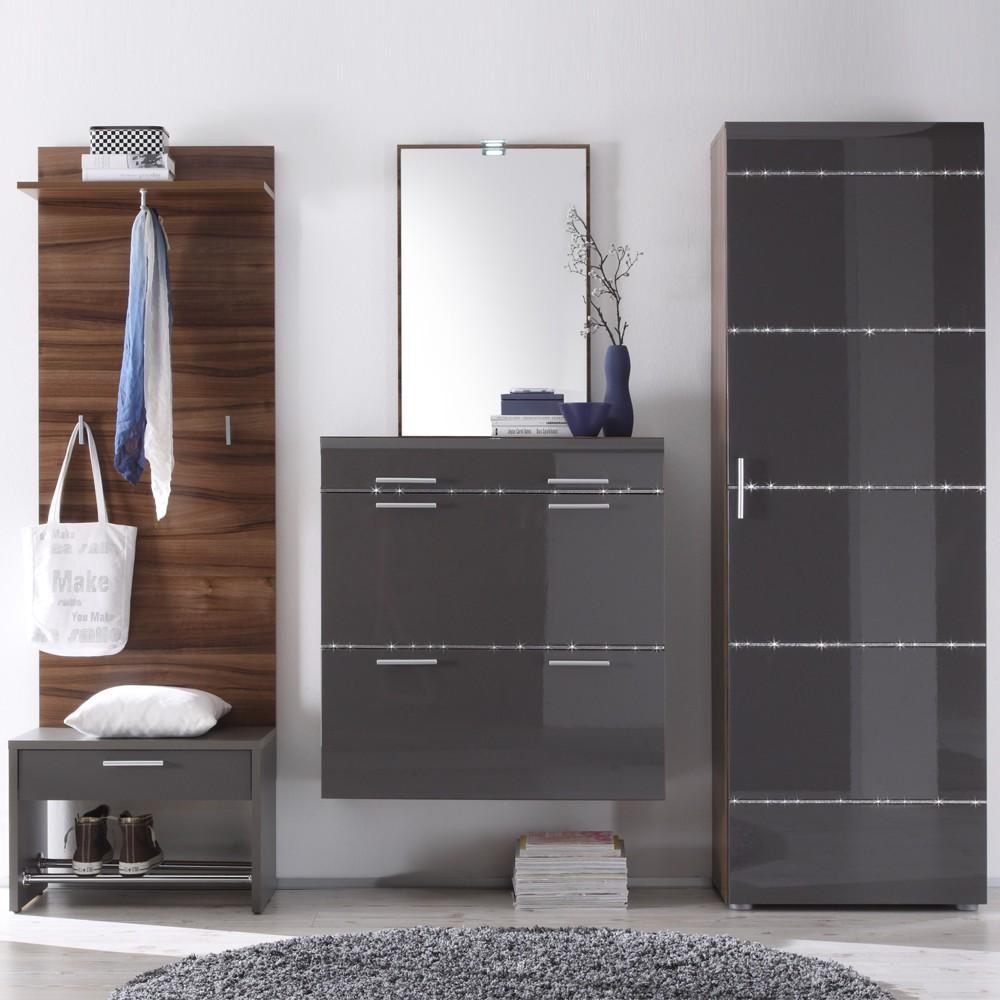garderobenm bel set zocalo 5 teilig anthrazit. Black Bedroom Furniture Sets. Home Design Ideas