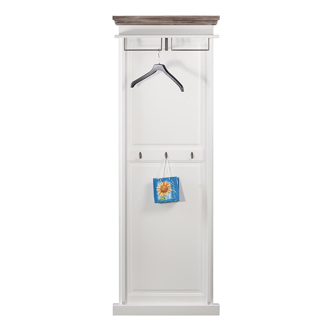 Garderobenpaneel Basilico II – Fichte teilmassiv – Weiß/Graubraun, Maison Belfort online bestellen