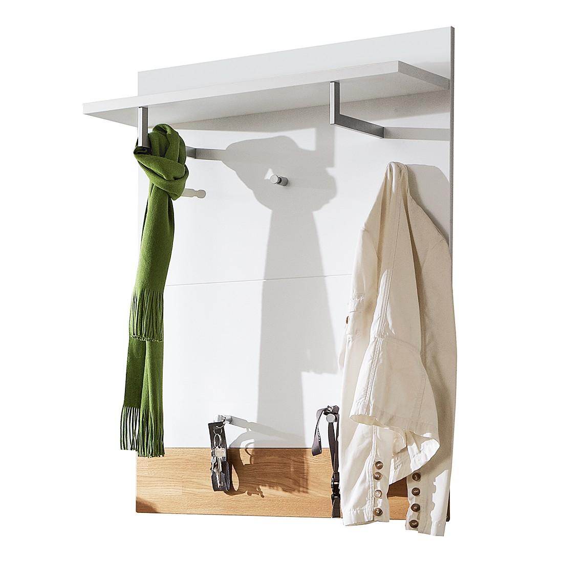 Garderobenpaneel Bolton I – Weiß/Eiche massiv, Voss günstig kaufen