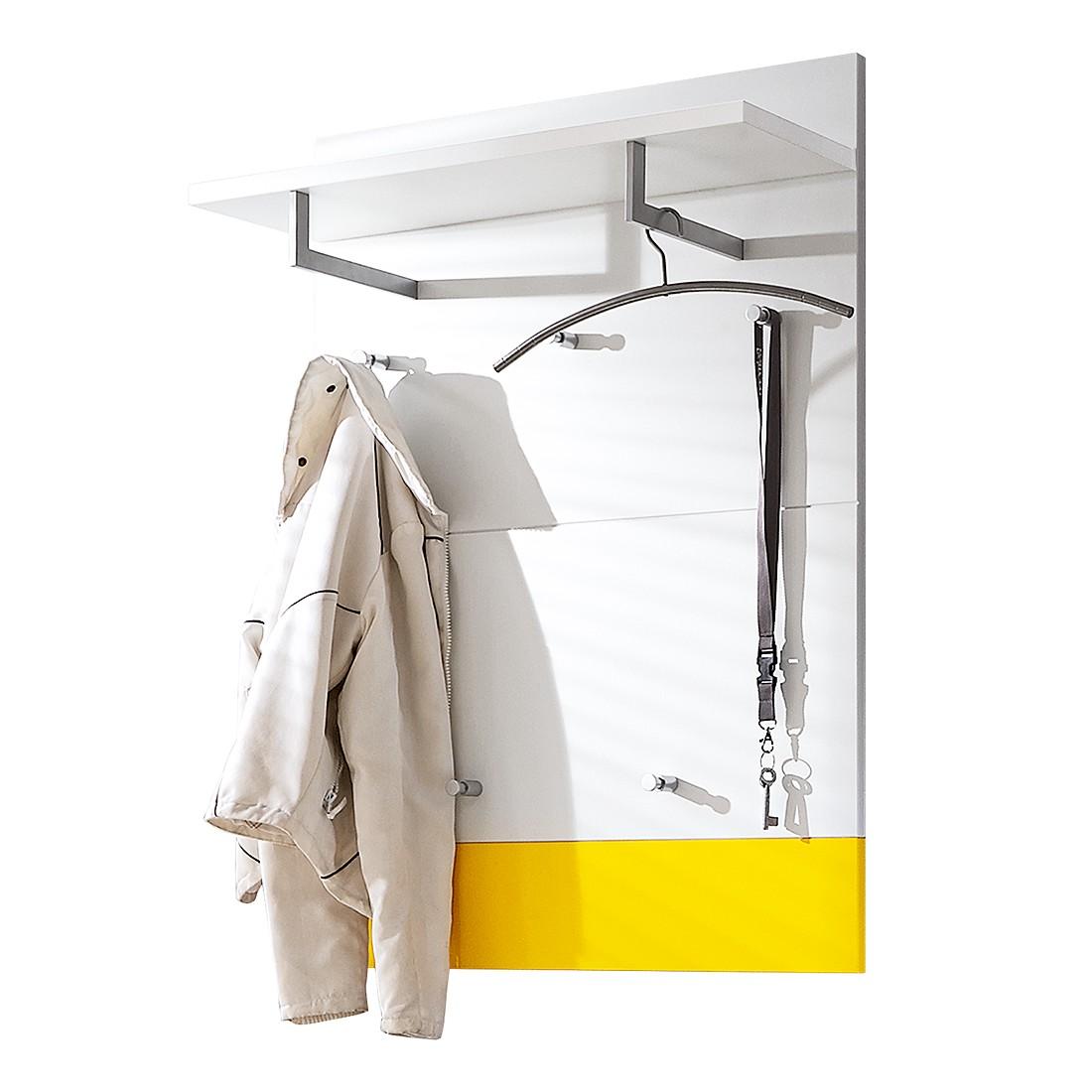 Garderobenpaneel Bolton I – Weiß/Sonnengelb, Voss günstig