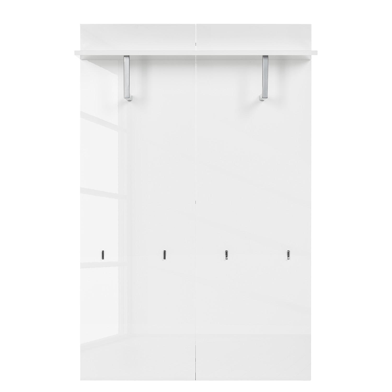 Garderobenpaneel Daytona – Hochglanz Weiß, loftscape – M