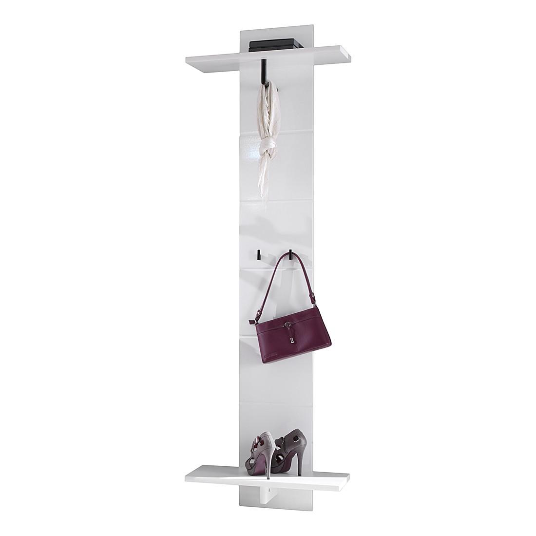 Garderobenpaneel Looma – Hochglanz Weiß, Top Square bestellen
