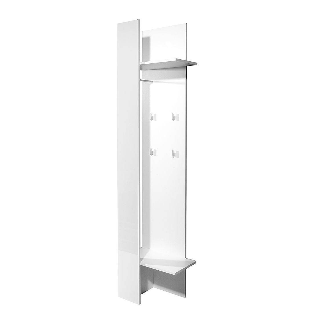 Garderobenpaneel Primus – Glas Weiß, Top Square jetzt bestellen