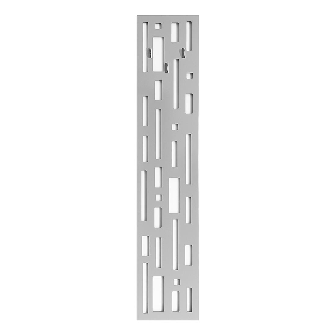 Garderobenpaneel tro metall grau magazin m bel for Garderobenpaneel grau