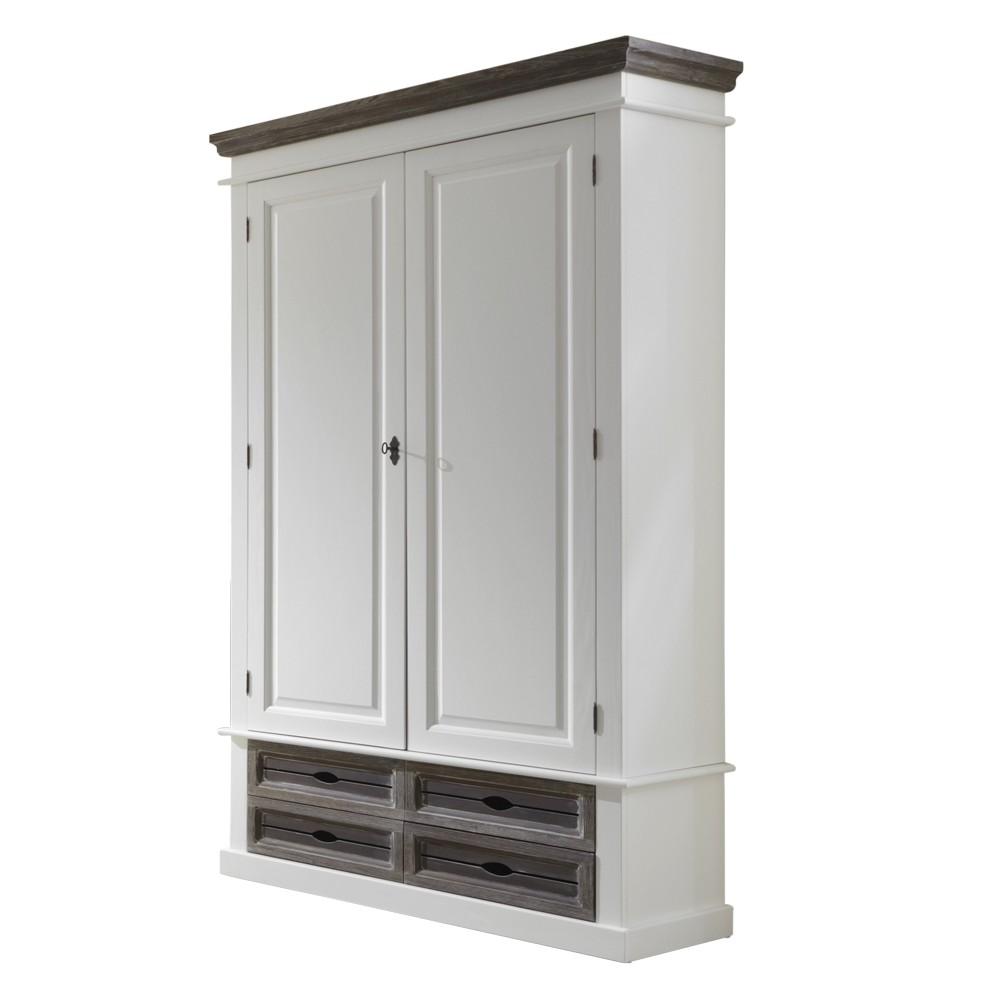 Verschiedene Garderobenschrank Weiß Dekoration Von Basilico – Weiß/graubraun – Fichte Teilmassiv