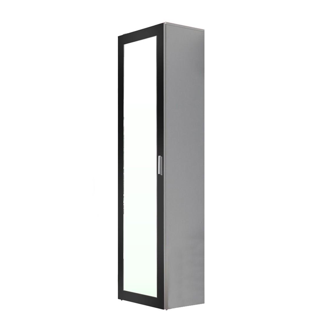 Garderobenschrank Torben - Weiß/Schwarz