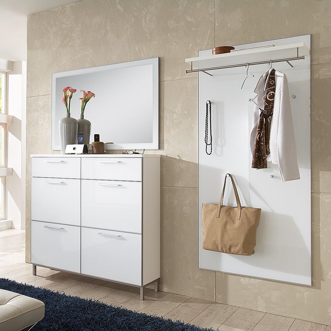 Garderobenset Alves I (3-teilig) – Weiß/Glas Weiß, Voss online kaufen