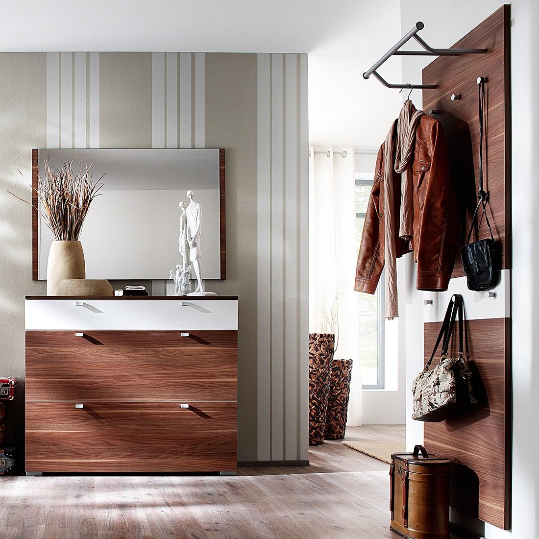 Garderobenset Buono III (3-teilig) – Nussbaum/Hochglanz Weiß, Wittenbreder online kaufen
