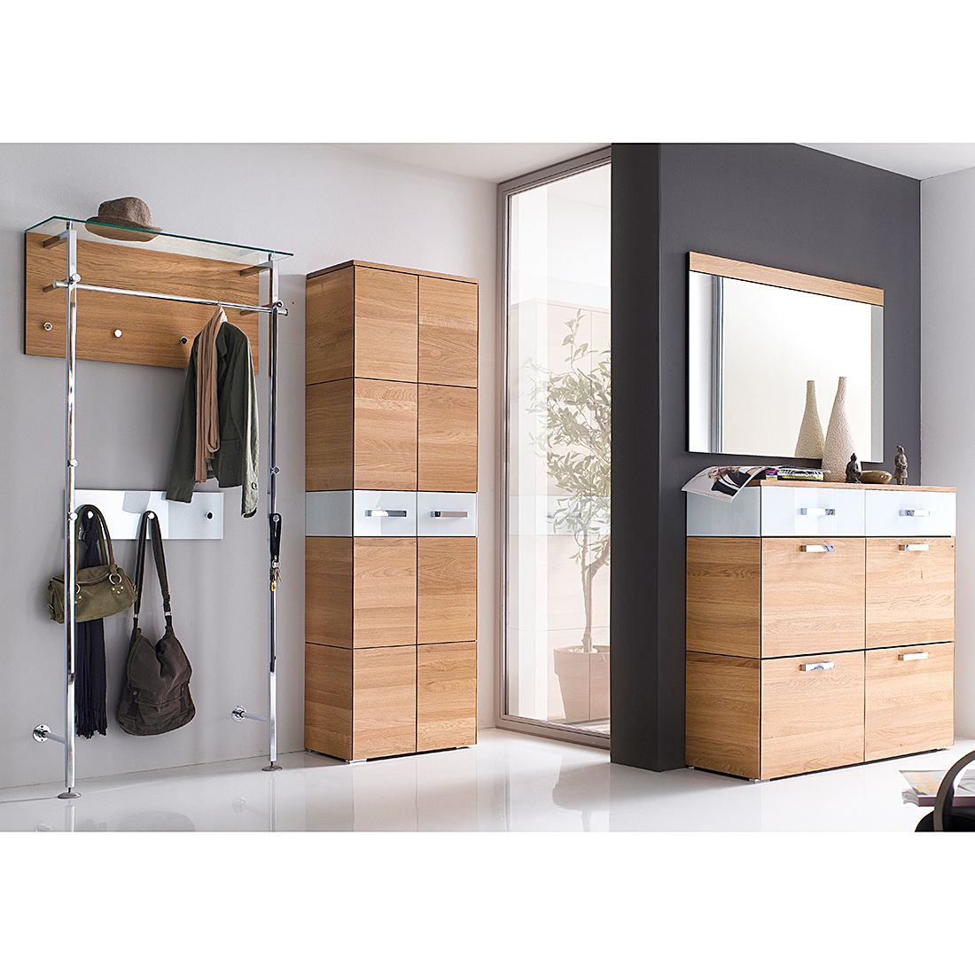 garderobe glas g nstig kaufen. Black Bedroom Furniture Sets. Home Design Ideas