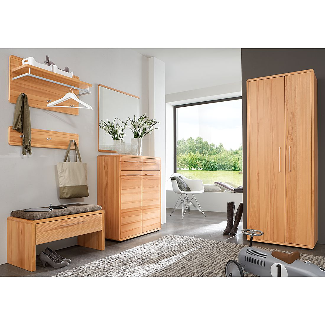 garderobe massivholz preisvergleiche erfahrungsberichte. Black Bedroom Furniture Sets. Home Design Ideas