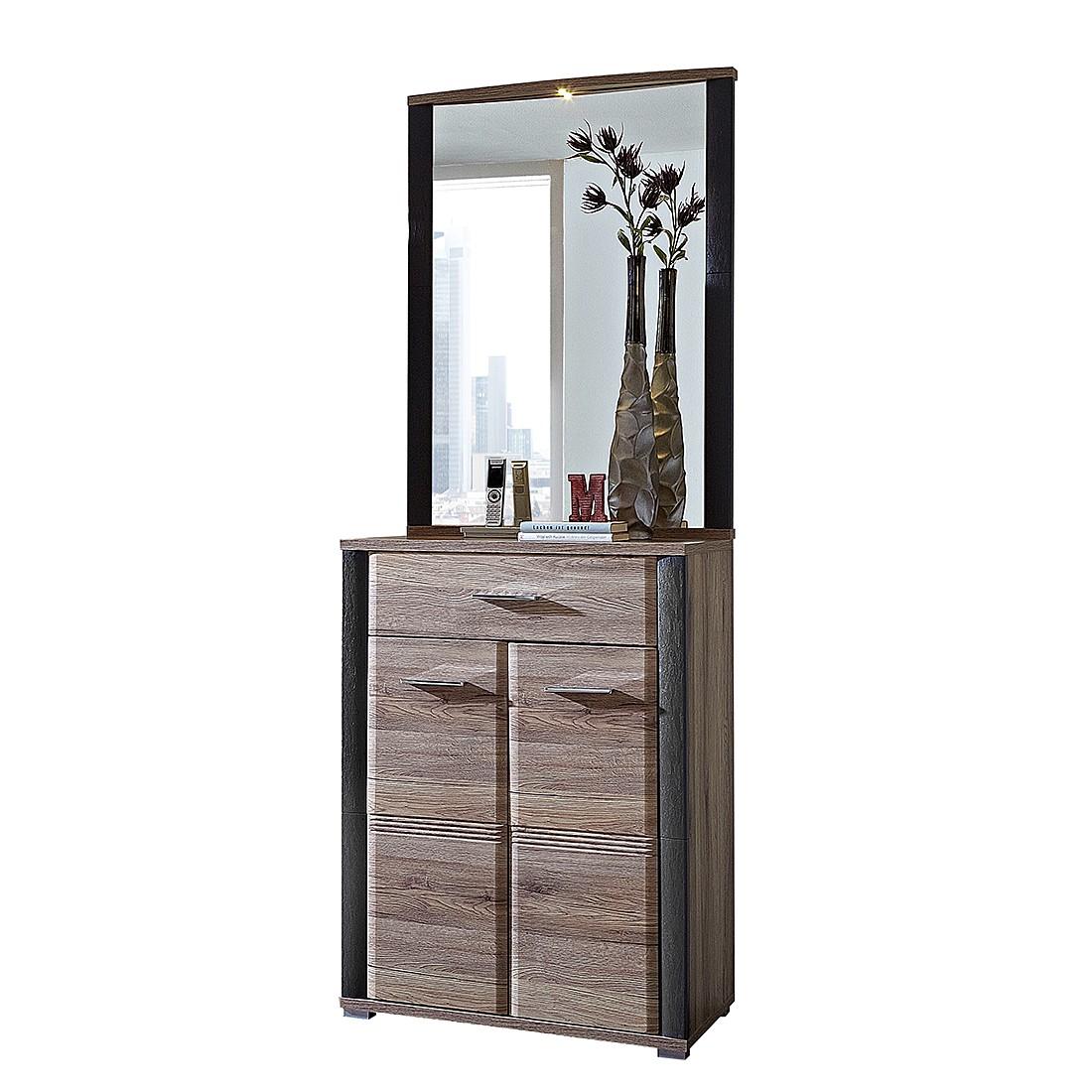 garderobenset skanderborg 2 teilig eiche dekor. Black Bedroom Furniture Sets. Home Design Ideas