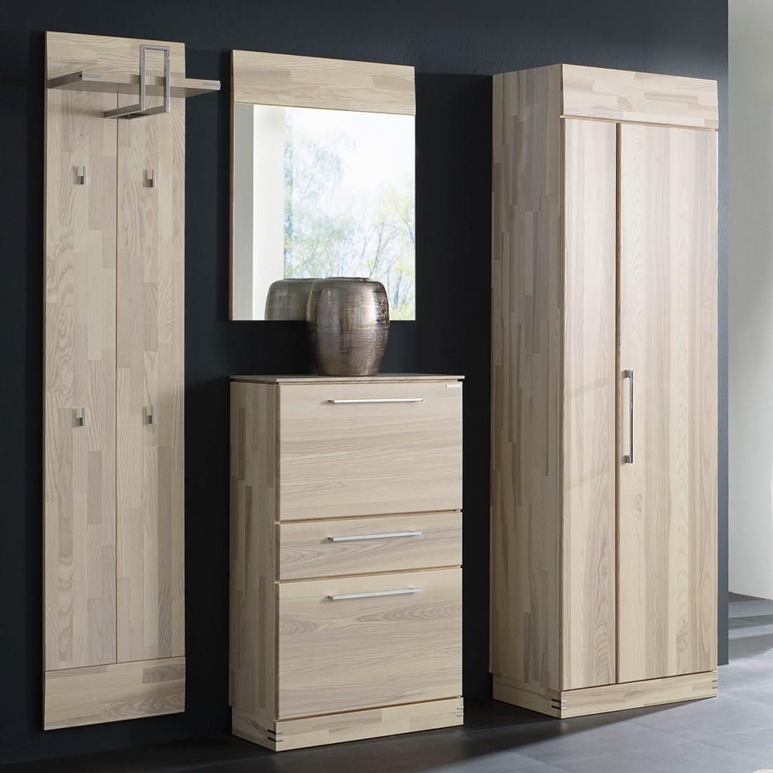 garderobenset terra ii 4 teilig kernesche massiv. Black Bedroom Furniture Sets. Home Design Ideas