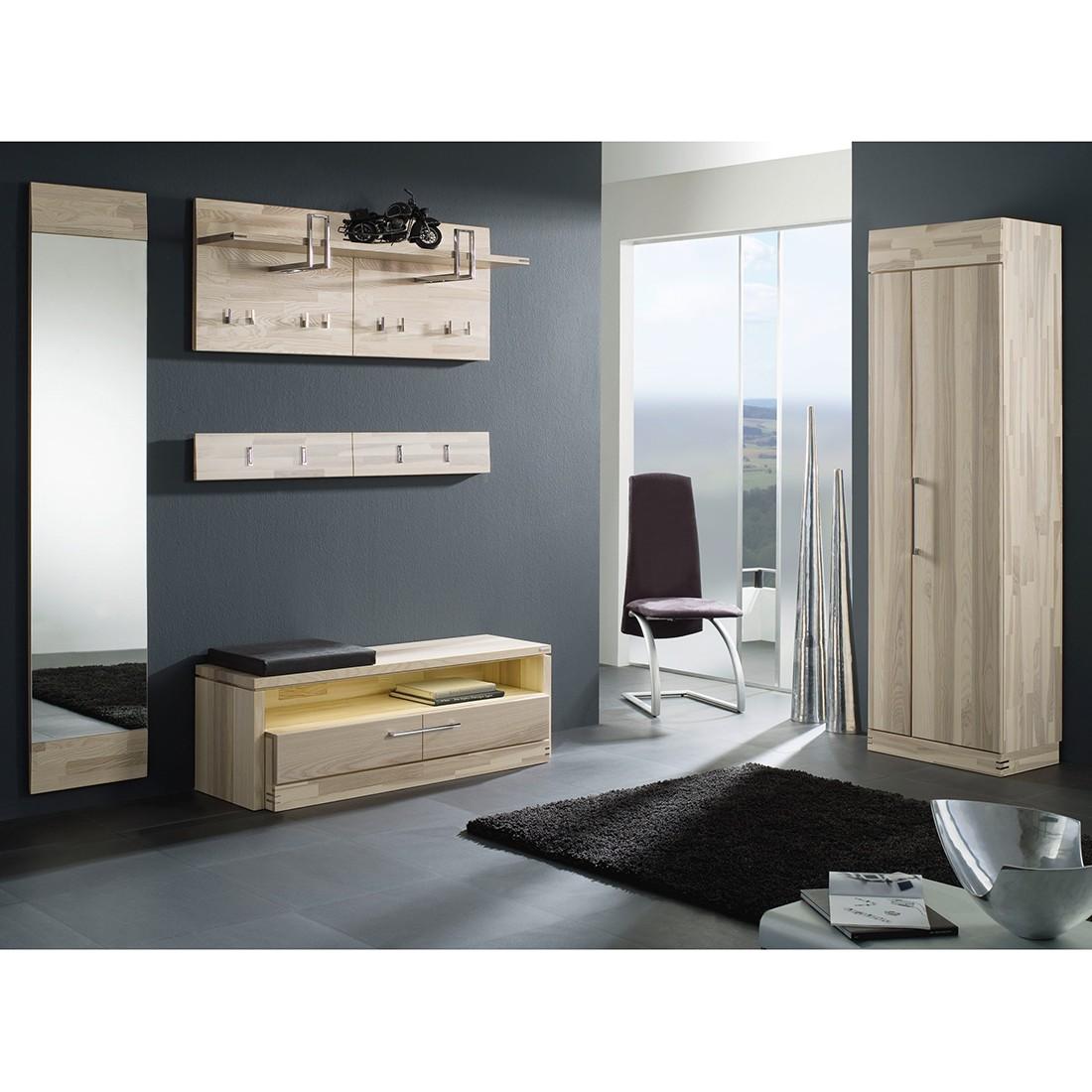 garderobenset terra iv 5 teilig kernesche massiv. Black Bedroom Furniture Sets. Home Design Ideas
