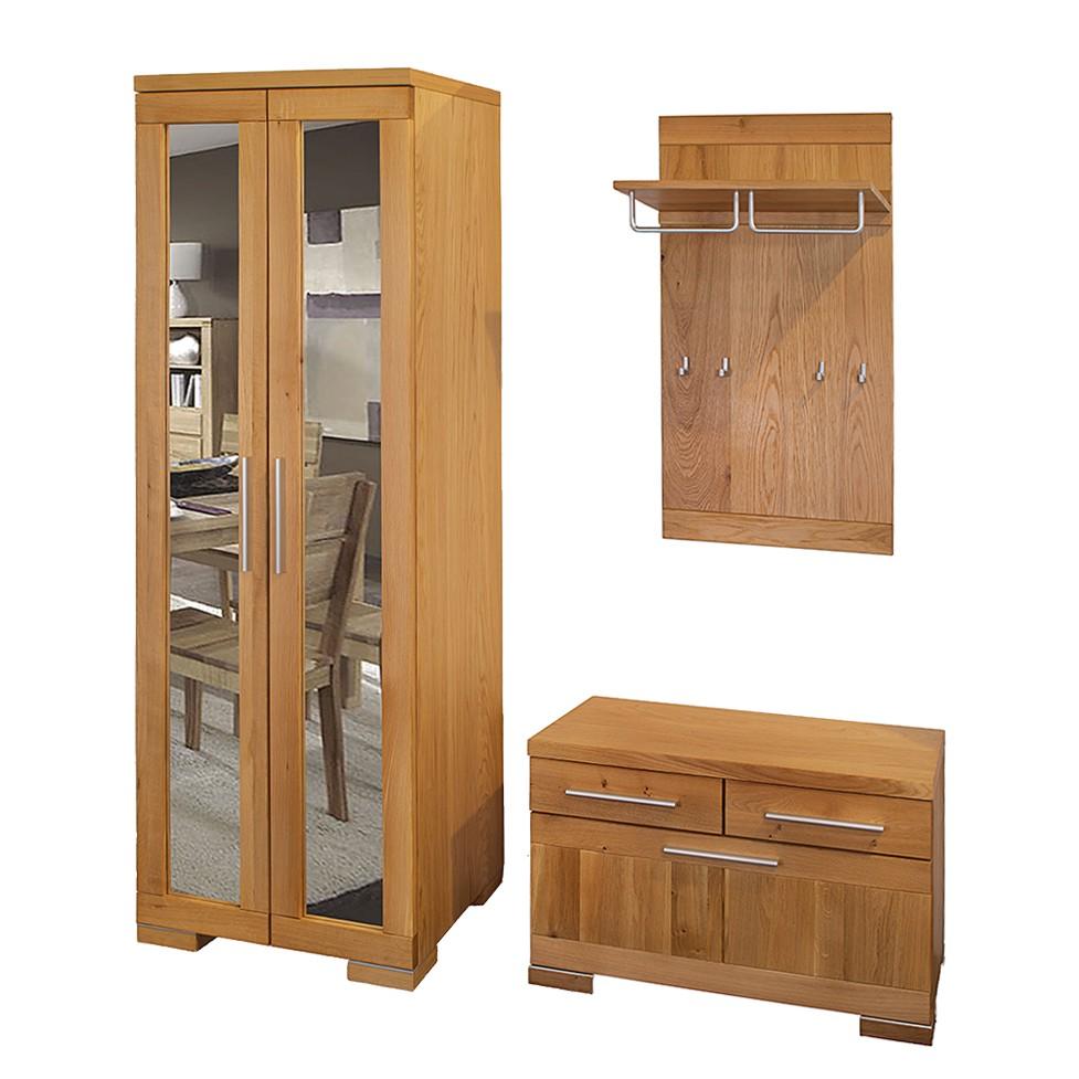 garderobenset vicenza 3er set wildeiche teilmassiv. Black Bedroom Furniture Sets. Home Design Ideas