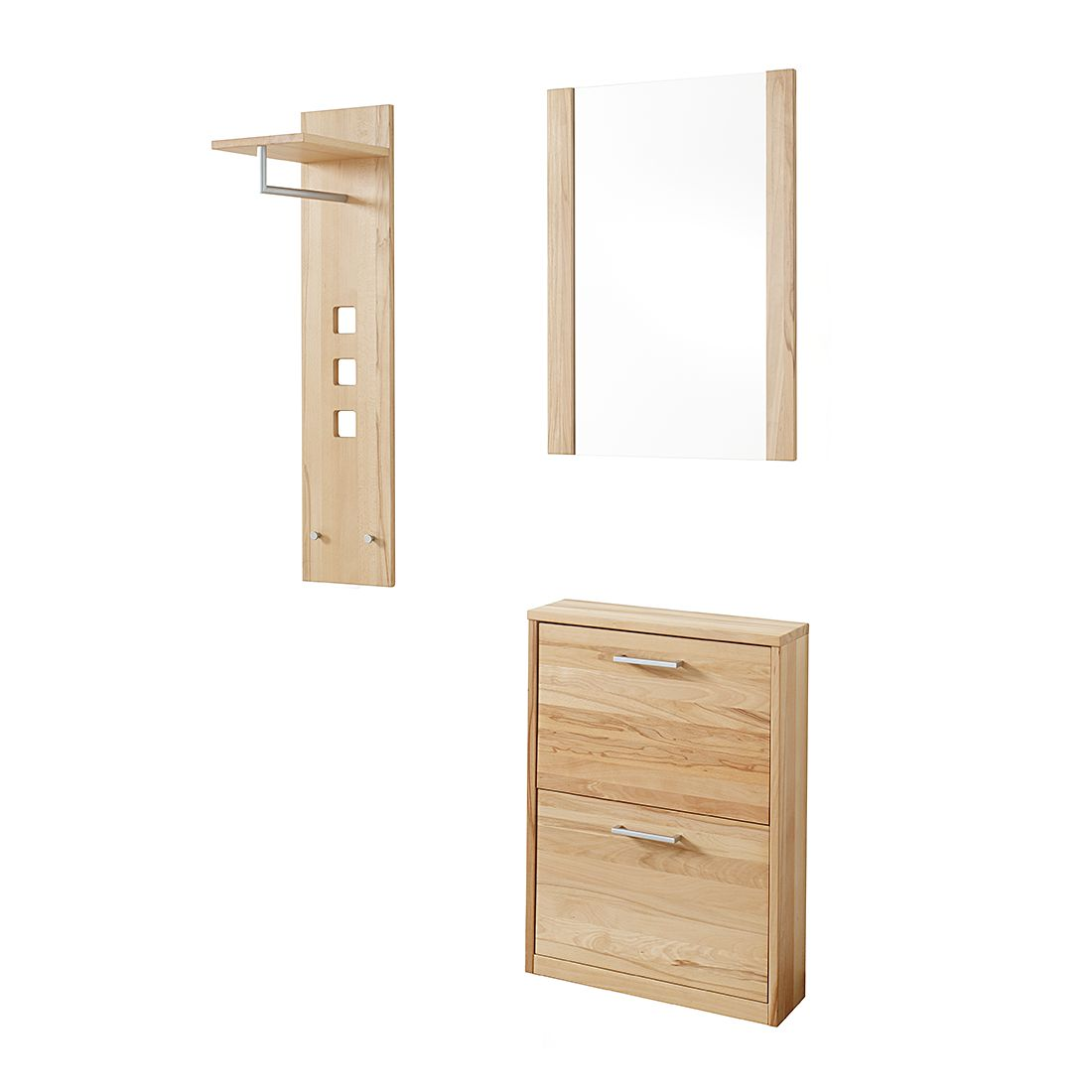 garderobenset woodfull ii 3 teilig kernbuche massiv ge lt. Black Bedroom Furniture Sets. Home Design Ideas