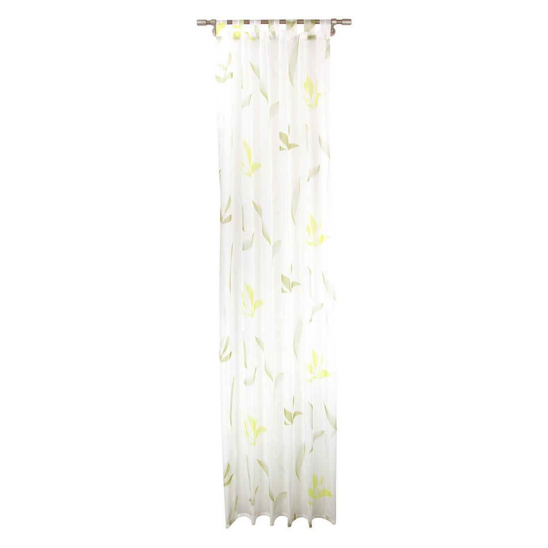 Gardine Moderne – Transparent – Grün – Mit Schlaufen, MiBiento Living günstig bestellen