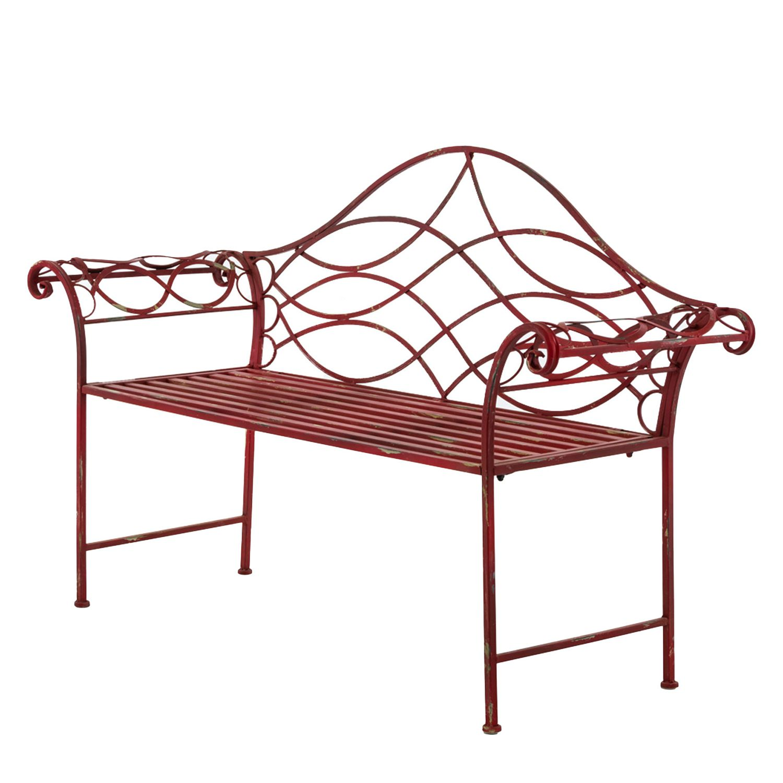 Gartenbank (2-Sitzer) - Metall - Rot, Pure Day