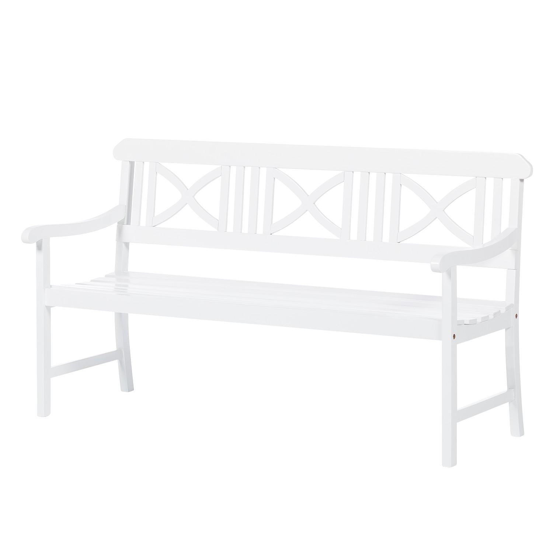 gartenbank eternal innocence 3 sitzer akazie massiv wei ebay. Black Bedroom Furniture Sets. Home Design Ideas