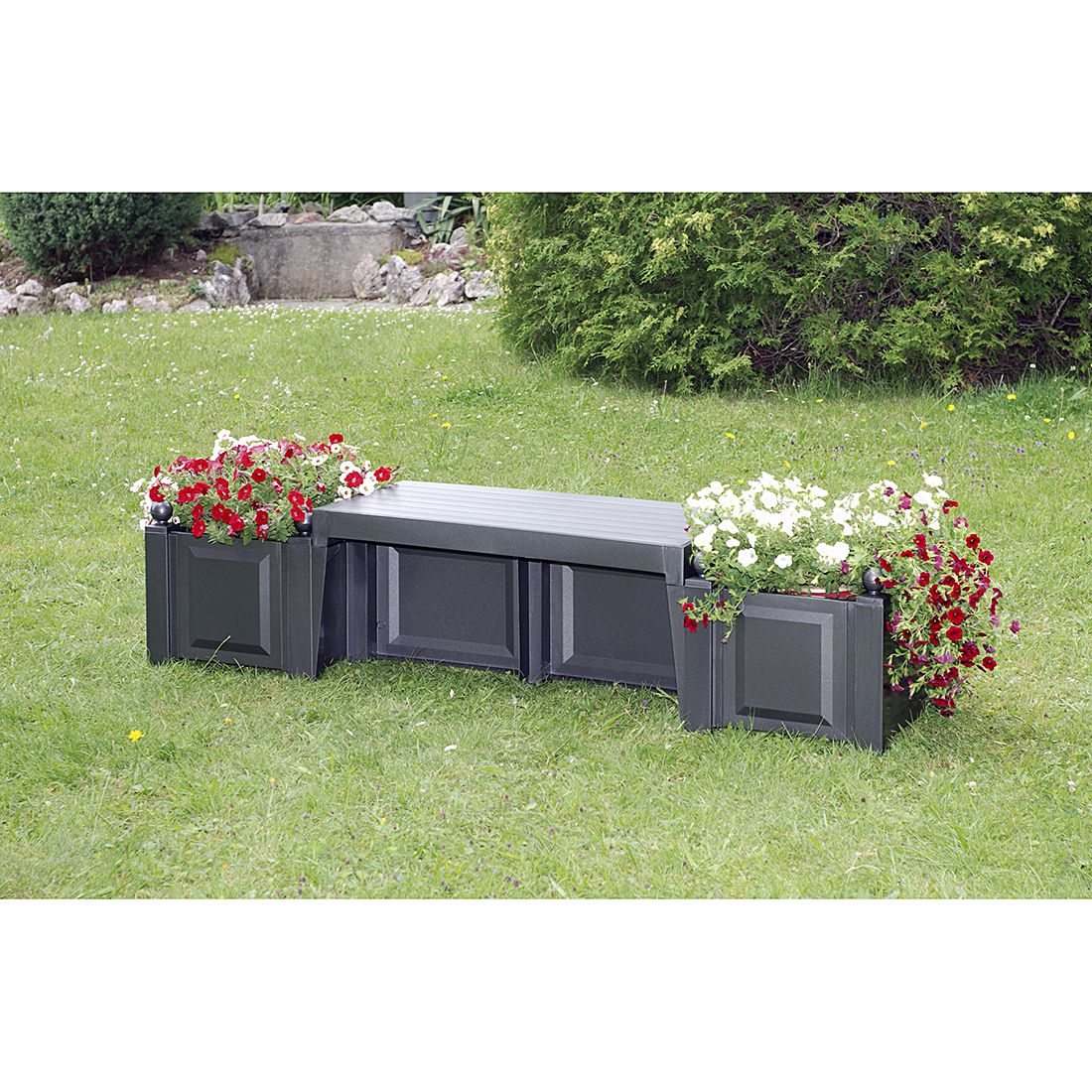 moderne gartenbank kunststoff 002706 eine. Black Bedroom Furniture Sets. Home Design Ideas