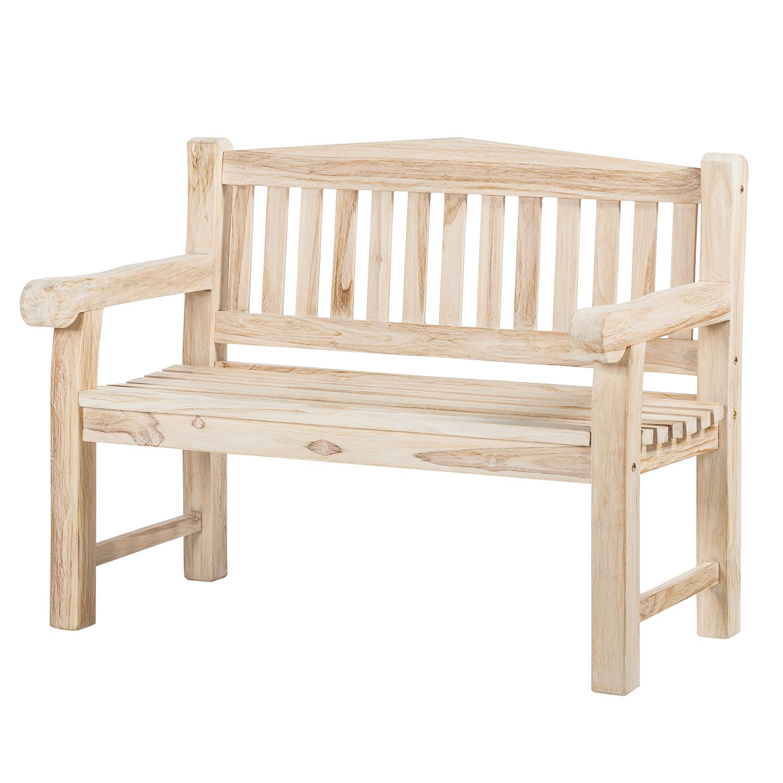 Gartenbank Texas (2-Sitzer) - Teakholz massiv - White Wash, Gardenho.me